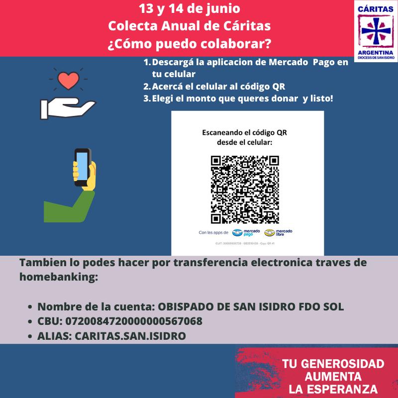 13 Y 14 DE JUNIO – COLECTA ANUAL DE CÁRITAS